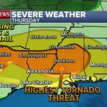 Severe weather threat continues for South with damaging winds and tornadoes possible