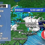 April snow hitting Northeast while flooding continues along Gulf Coast