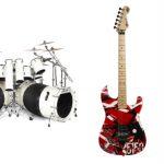 New rock memorabilia auction offering Alex Van Halen drum kit, Eddie Van Halen guitars & more collectibles