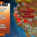 Heat wave pounds the West: Over 100 degrees forecast for California, Oregon, Arizona, Nevada