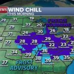 Record cold from Midwest to the Northeast as new storm brings severe weather South
