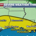 Severe weather moves to Gulf Coast as damaging winds, hail and flash flooding expected