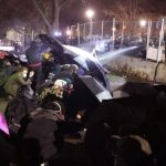 Hundreds protest at Brooklyn Center Police Department for fourth night after fatal shooting of Daunte Wright