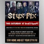 "Styx presenting new ""Styx Fix Live"" streaming concert this Saturday featuring 2020 LA-area show"