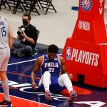 76ers' Joel Embiid injures right knee in Game 4, will have MRI